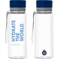 "EQUA bottiglia di plastica ""Hydrate the world"" 600 ml"