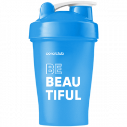 Shaker Coral Club Be beautiful 400 ml blu