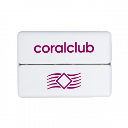 GoBox mini con logo Coral Club viola