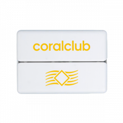 GoBox mini con logo Coral Club giallo