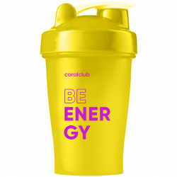 Shaker Coral Club Be energy 400 ml giallo