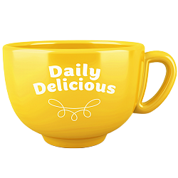 Tazza Daily Delicious gialla (Europa)